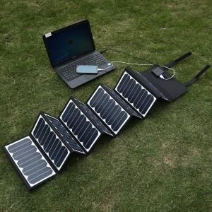 Solarladegerät in Betrieb